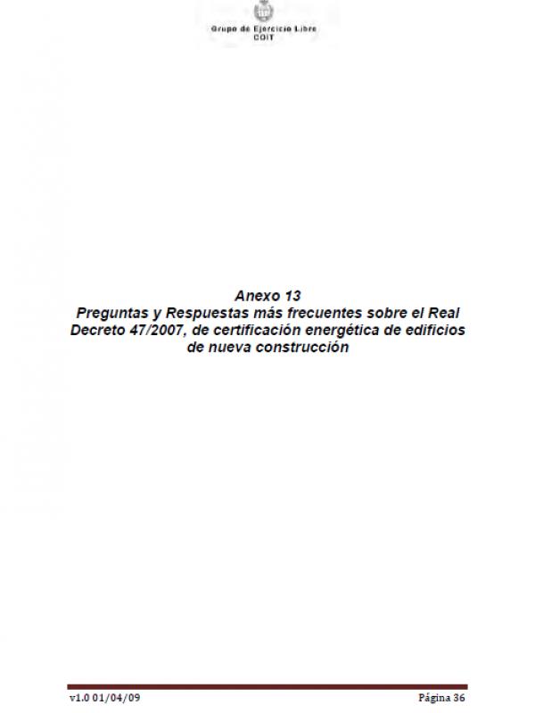 Certificación energética de edificios. Parte 3 . (Año publicación: 2009)