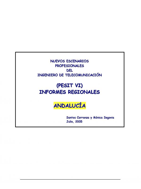PESIT VI Andalucía. (Año publicación: 2005)