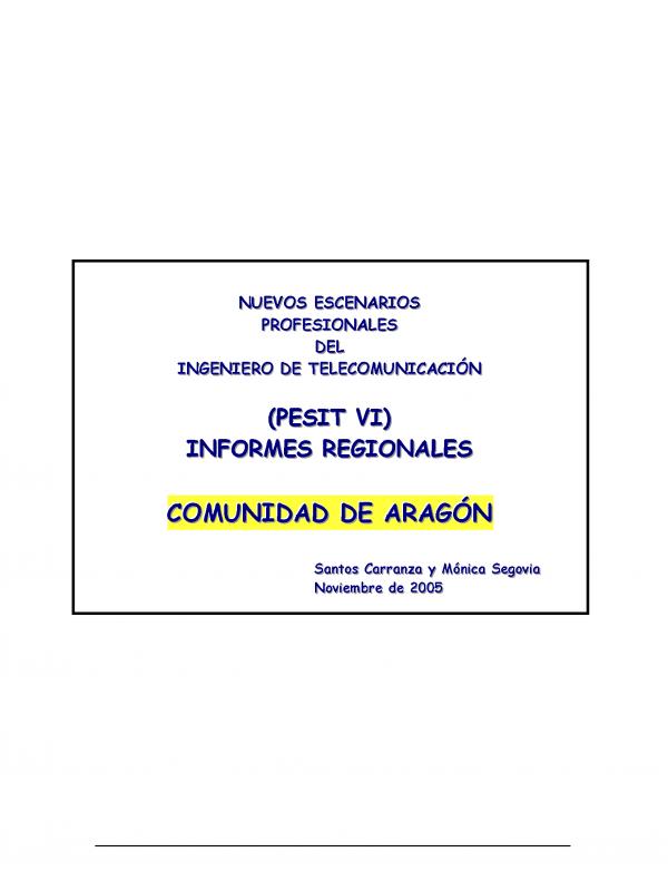 PESIT  VI Aragón. (Año publicación: 2005)