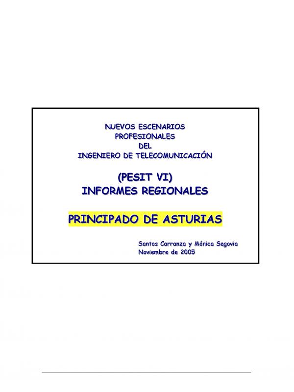 PESIT VI Asturias. (Año publicación: 2005)