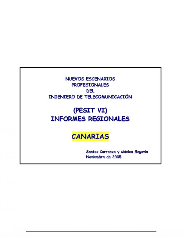 PESIT VI Canarias. (Año publicación: 2005)