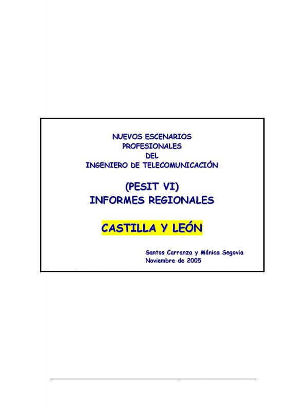 PESIT VI Castilla León. (Año publicación: 2005)