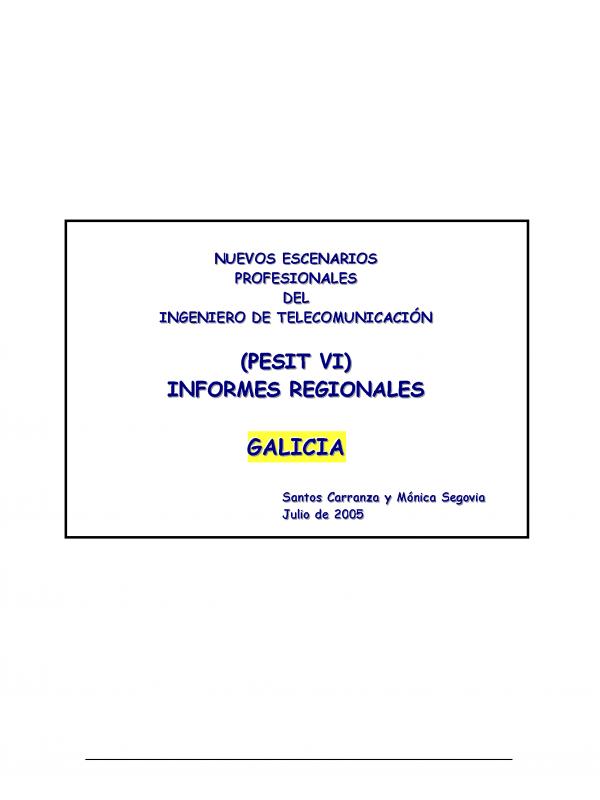 PESIT VI Galicia . (Año publicación: 2005)