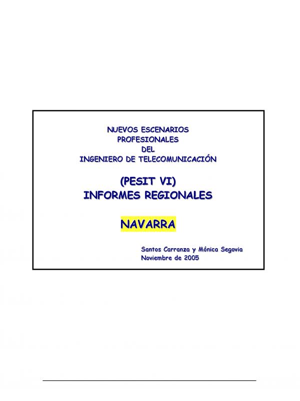 PESIT VI Navarra. (Año publicación: 2005)