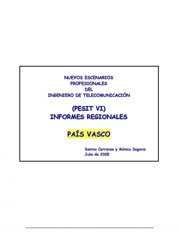 PESIT  VI País Vasco. (Año publicación: 2005)