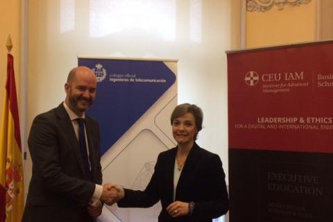 El COIT firma un acuerdo de colaboración con CEU IAM Business School para desarrollar la formación ejecutiva de sus colegiados
