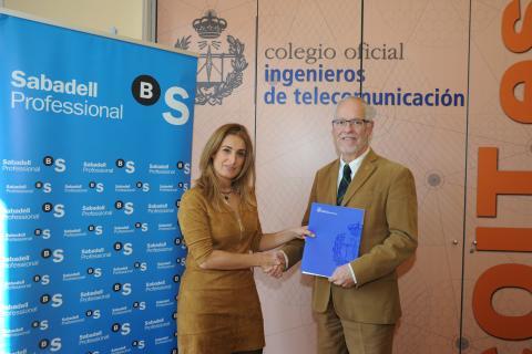 Banco Sabadell y el Colegio Oficial de Ingenieros de Telecomunicación impulsan en 2016 su colaboración con nuevos productos para los profesionales