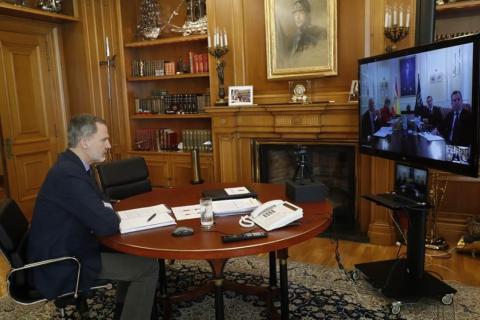 El rey Felipe VI manifiesta su apoyo, ánimo y compromiso con los ingenieros durante la crisis del coronavirus