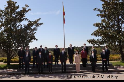Su Majestad el Rey recibe en audiencia a miembros del COIT/AEIT con motivo del centenario del título oficial de Ingeniero de Telecomunicación