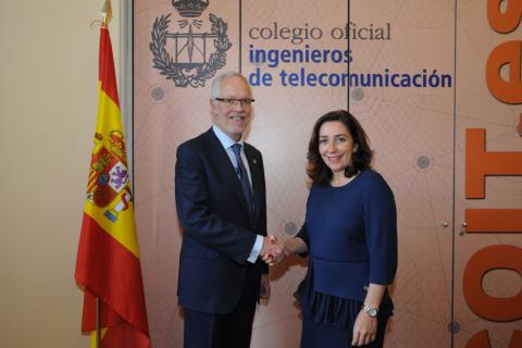 Orange y el Colegio Oficial de Ingenieros de Telecomunicación refuerzan su colaboración mediante un nuevo convenio