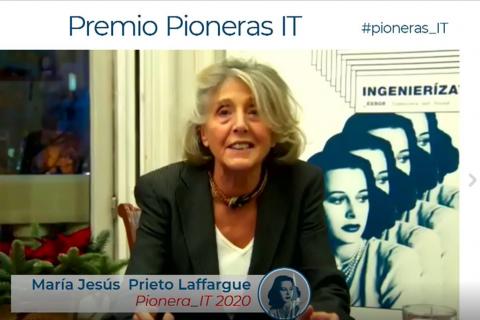 El COIT entrega el Premio Pioneras_IT 2020 a María Jesús Prieto-Laffargue