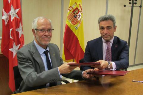 Firmado el convenio de colaboración entre el COIT y la Comunidad de Madrid