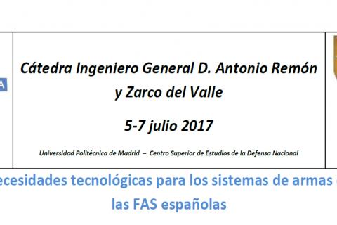 Necesidades tecnológicas para los sistemas de armas de las FAS españolas
