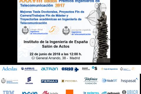 Entrega de premios. XXXVIII edición Premios Ingenieros de Telecomunicación 2017
