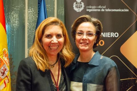 Los Ingenieros de Telecomunicación celebran la Cena Homenaje a la Ingeniera del Año 2018 Nuria Oliver